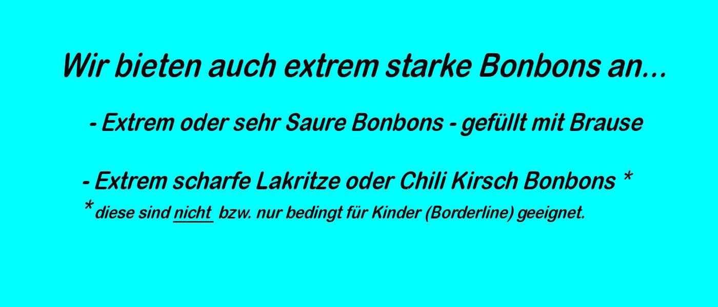 Scharfe / Starke Bonbon